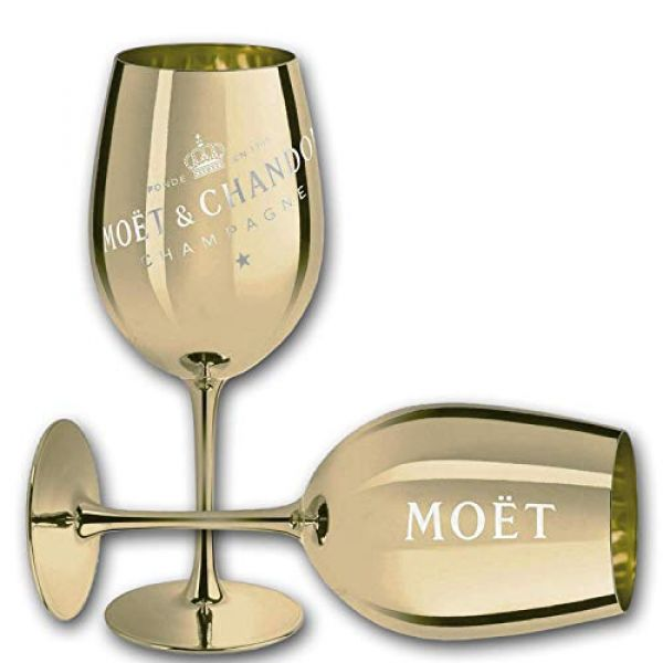 Moet & Chandon Imperial Champagner Echtglas in Gold